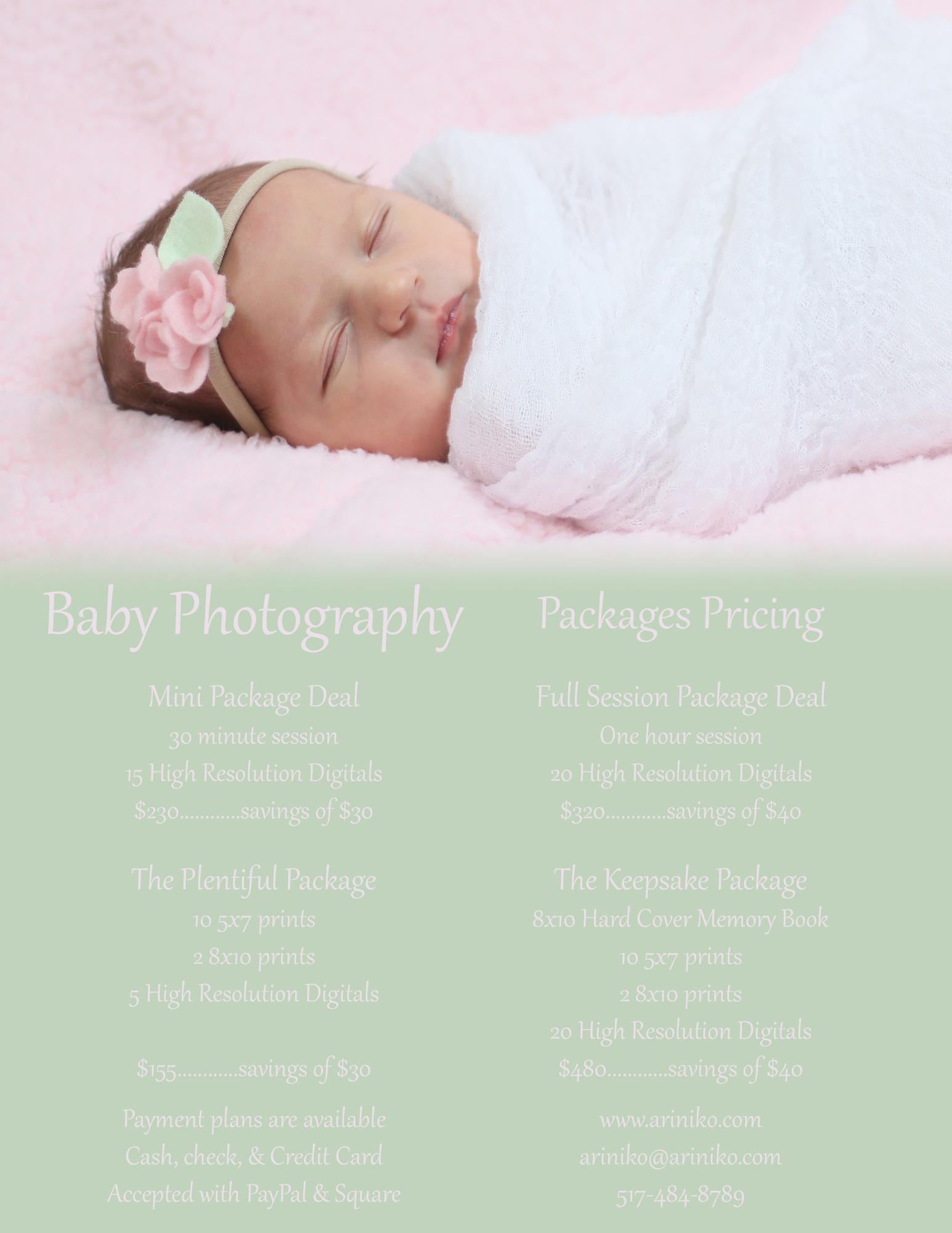 Newborn & Maternity Photography Packages Guide