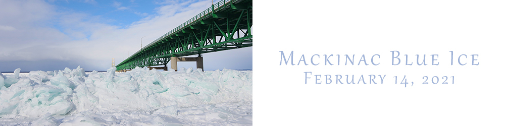 Blue Ice at Mackinac Bridge
